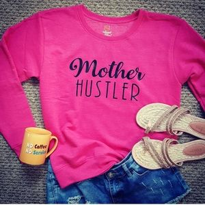 """Mother Hustler "" Statement Sweatshirt Size M"